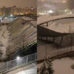 Cubiertas que colapsan por el temporal de nieve